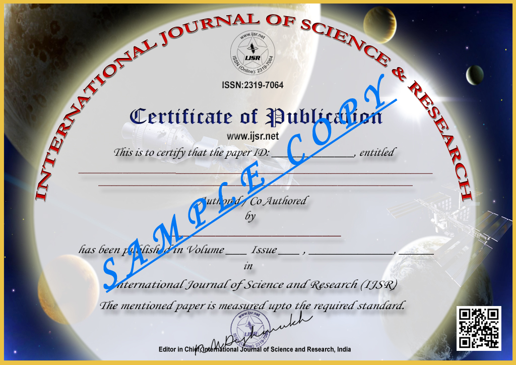 Call for paper international journal of science and research ijsr certificate icon yadclub Choice Image